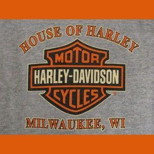 Harley Davidson Tops   House Of Harley Davidson Shirt L Kids S Women